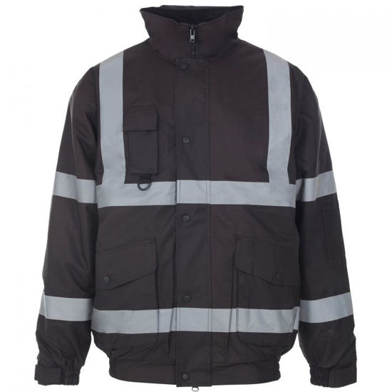 Picture of Supertouch Hivis Bomber Jacket, Navy, Size 3XL