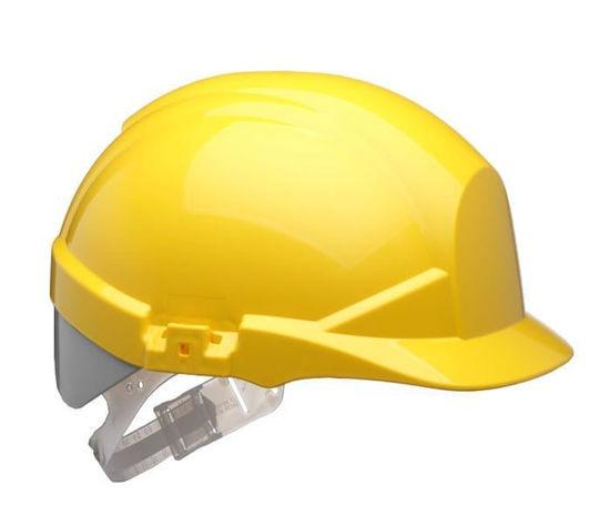Centurion Reflex Safety Helmet with Silver Stripe, Yellow