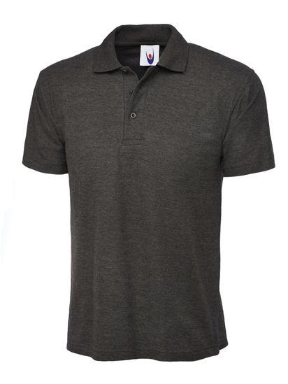 Uneek Classic Polo Shirt, Charcoal Grey