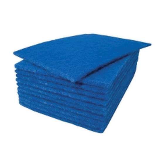 Picture of Scouring Pad, 10/Pack, Blue, BC6