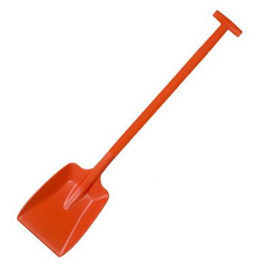 Picture of Hillbrush Plastic Shovel, 32x26cm Blade, D Grip, Orange