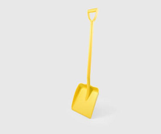 Picture of Hillbrush Plastic Shovel, 32x26cm Blade, D Grip, Yellow