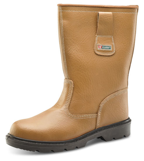 Picture of Click PU Unlined Rigger Boot, Tan