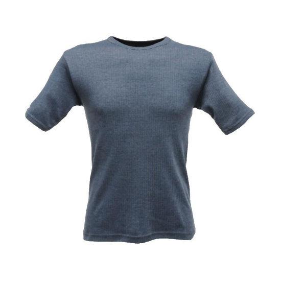Picture of Regatta Short Sleeve Thermal Vest, Denim Blue