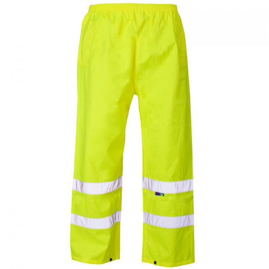 Picture of Supertouch Hivis PU Over Trousers, Yellow, Size L
