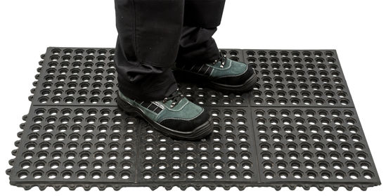 Picture of Anti Fatigue Mat Heavy Duty Black, 620 x 920 x 12mm