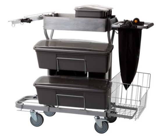 Picture of Compact Cleaning Trolley Plus, 1160 mm, Grey