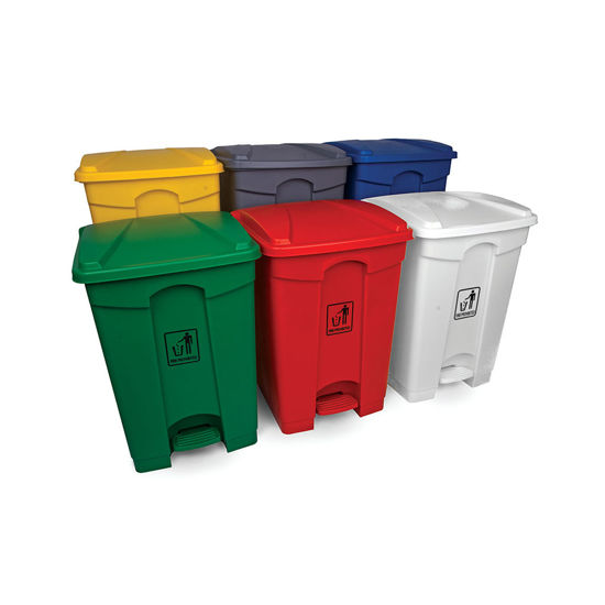 Picture of 45L Polypropylene Pedal Bin,  Variety of Colours