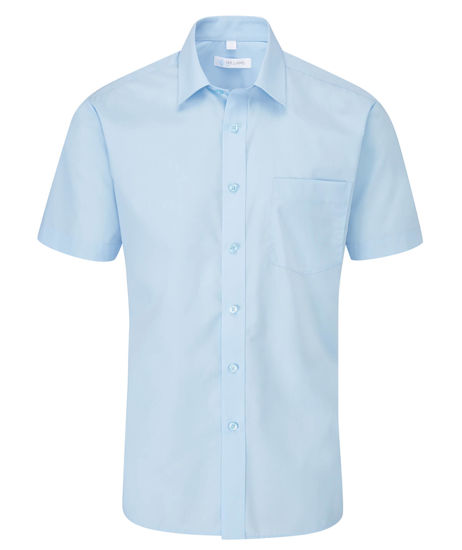 Picture of Disley Classic Short Sleeve Shirt, Blue, Size 14