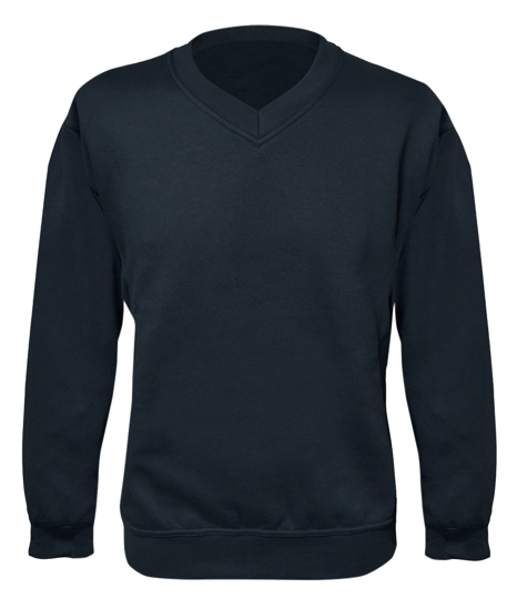 Picture of V-Neck Sweatshirt Heavy Weight, Navy, Size S