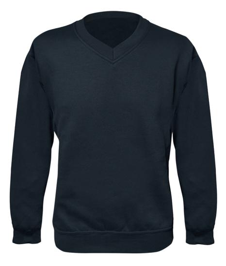 Picture of V-Neck Sweatshirt Heavy Weight, Navy