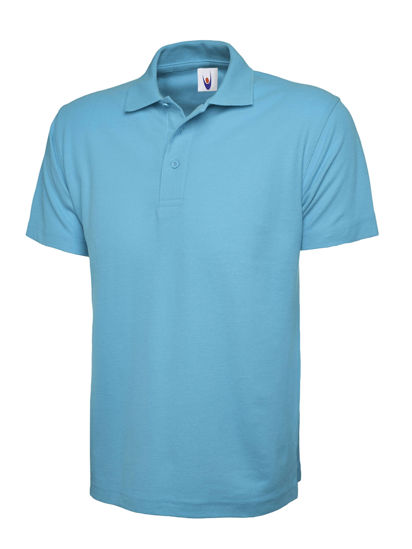 Picture of Uneek Classic Polo Shirt, Sky Blue, Size 4XL