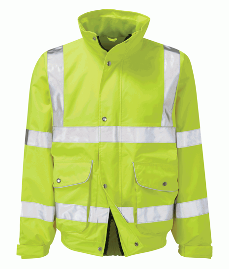 Picture of Scimitar Hivis Breathable Bomber, Yellow, Size L