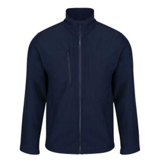 Picture of Men's Ablaze 3 Layer Softshell Jacket, Navy, Size L