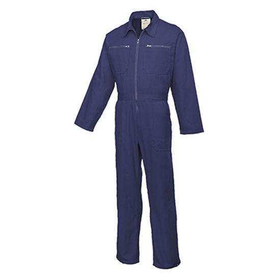 Picture of Portwest Cotton Boilersuit, Navy, Size L