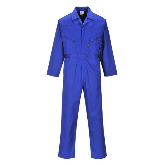 Picture of Liverpool Zip Coverall, Royal Blue, Size L