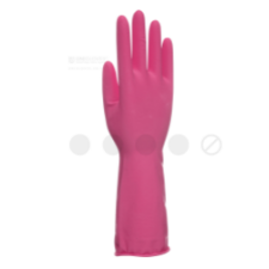 Picture of Unigloves All Safe Household Latex Gloves, Pink, Size S