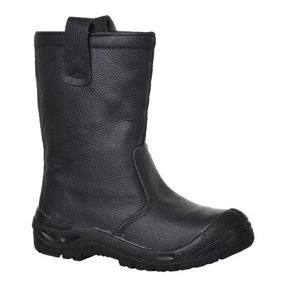 Picture of STEELITE RIGGER BOOT SCUFF CAP, BLACK S3, SIZE:9
