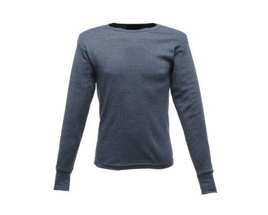Men's Long Sleeve Thermal Vest Denim Blue
