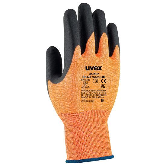 Picture of Uvex Unidur Fibre Liner Glove, Orange/Black