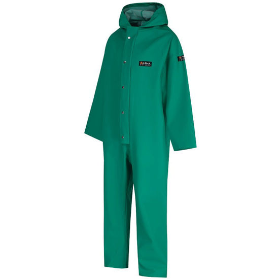 Picture of Chemsol Green Coverall C/W Hood