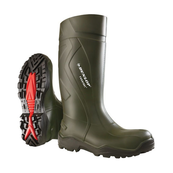 Picture of Dunlop Purofort + Green Soft Toe Wellington