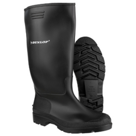 Picture of Dunlop Pricemaster Soft-Toe Black Wellington, Size 7